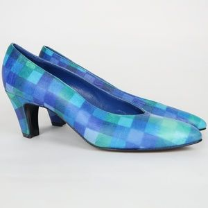Stuart Weitzman Women's Watercolor Blue Heels